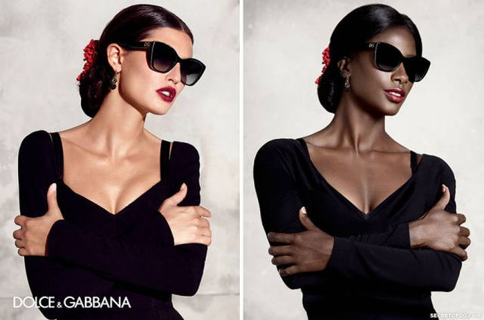 Model Highlights Lack Of Diversity By Recreating Famous Ad Campaigns (9 pics)