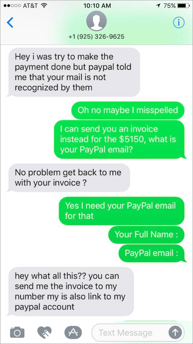 Scammer Gets Scammed While Trying To Purchase A Motorcycle (20 pics)