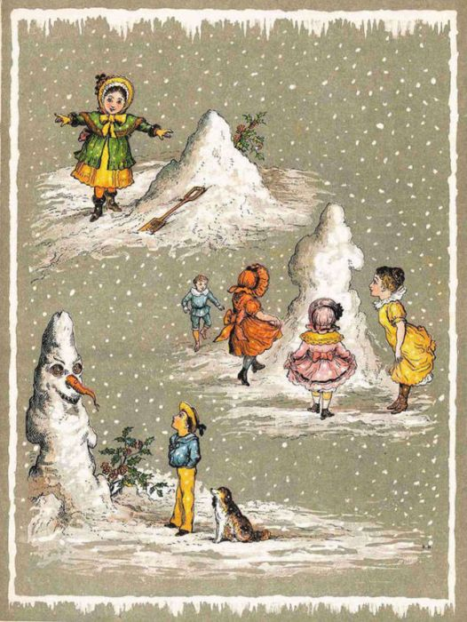 Weird And Creepy Christmas Cards From The Victorian Era (57 pics)