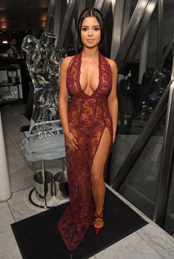 Demi Rose Steps Out In Sexy See Through Dress (9 pics)