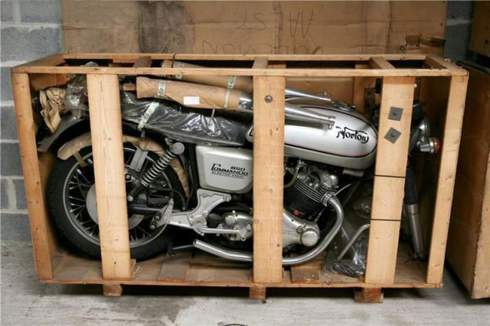 Time Capsule Of British Motorcycles Discovered In Belgium (16 pics)