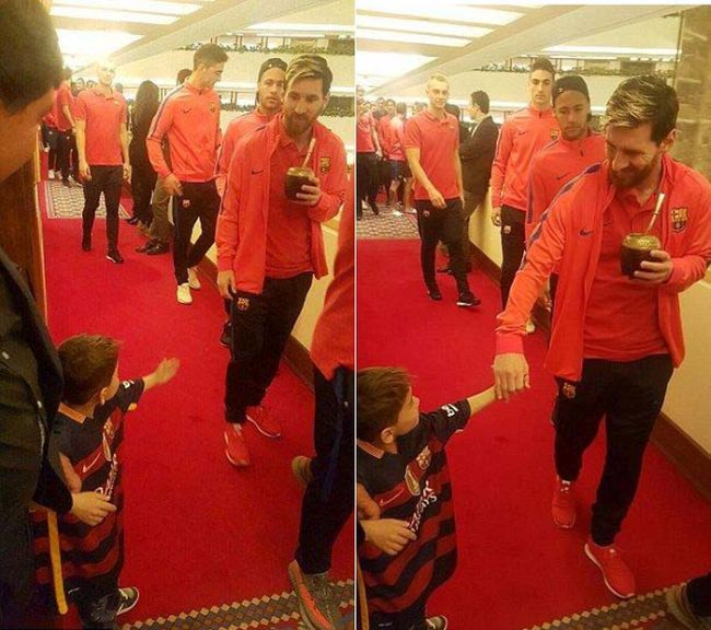 Young Afghan Boy Finally Gets To Meet His Hero Lionel Messi (3 pics)