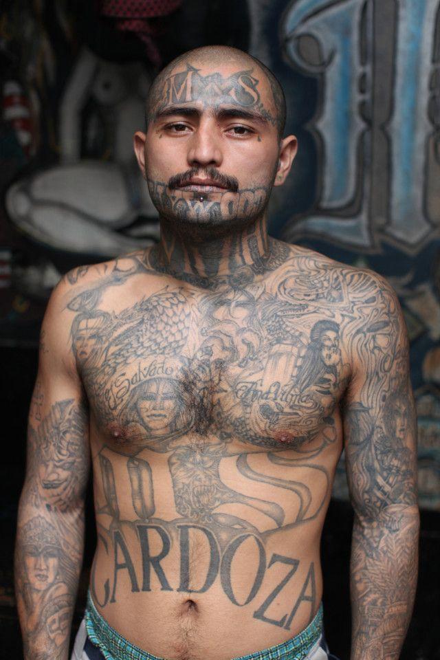 Candid Photos Show Members Of El Salvador's Brutal MS-13 Gang In Jail (9 pics)