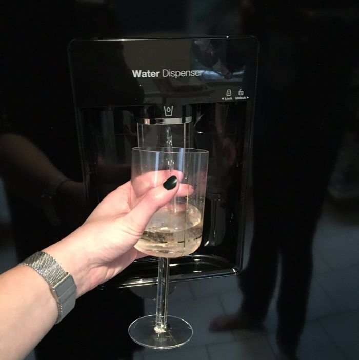 The Correct Way To Use The Water Dispenser On Your Fridge (2 pics)