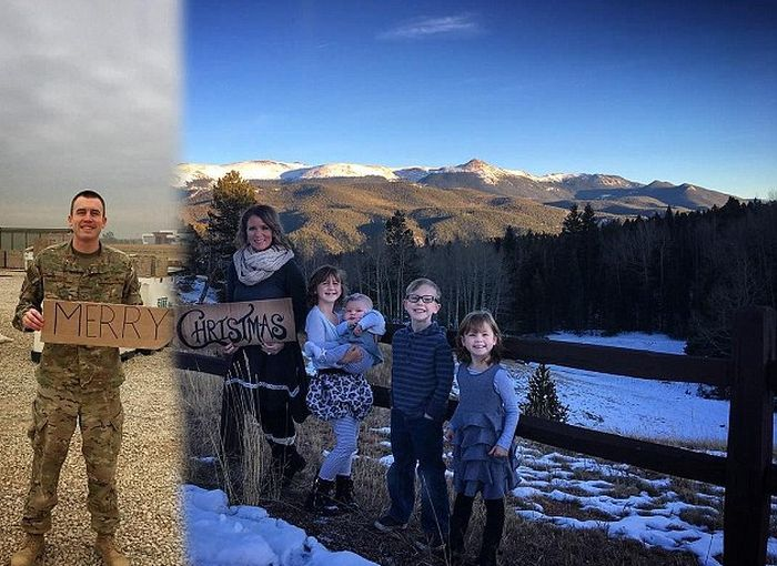 This Military Family Christmas Card Will Melt Your Heart (3 pics)
