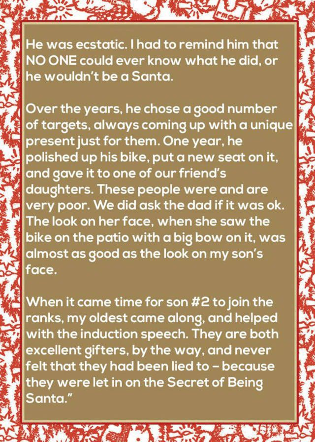Mom Finds An Awesome Way To Teach Her Kids About Santa (4 pics)