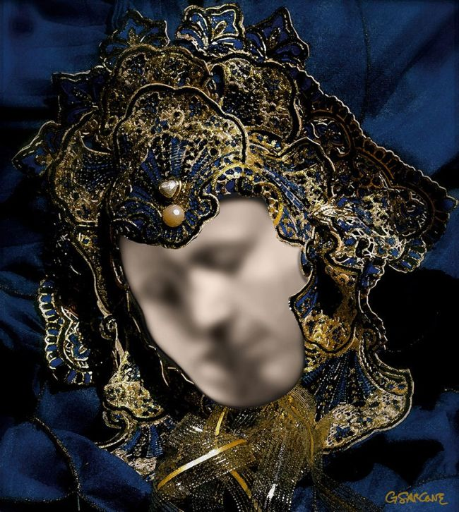This Venetian Mask Is Actually An Optical Illusion (2 pics)