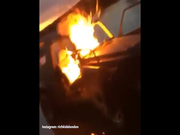 Rich Kids Of Instagram Torch Luxury Mercedes G Wagen In London For A Laugh