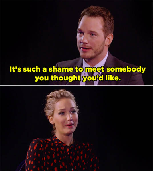 Jennifer Lawrence And Chris Pratt Destroy Each Other With Hilarious Insults (8 pics)