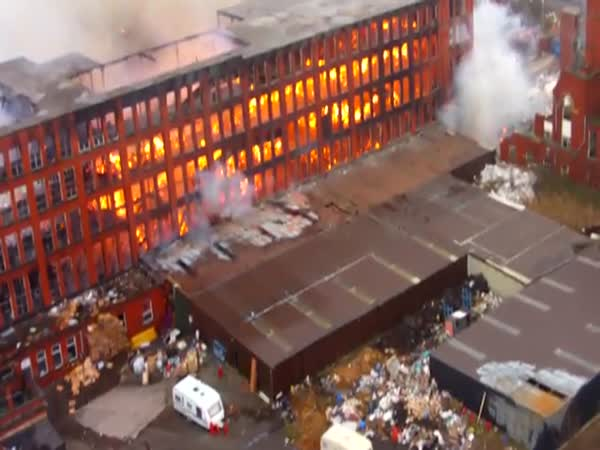 Several People Feared Dead In Huge Fire At Manchester Mill