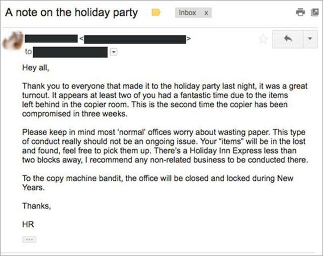 Human Resources Issues Memo After Workers Have Sex On The Copy Machine (2 pics)