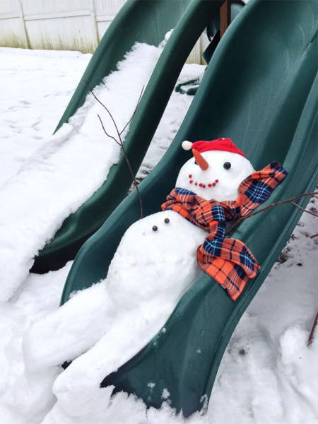 What It Looks Like When A Snowman Becomes A Work Of Art (50 pics)