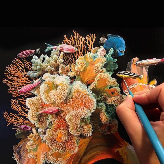 Lisa Ericson Creates Incredible Surreal Fish Paintings (9 pics)