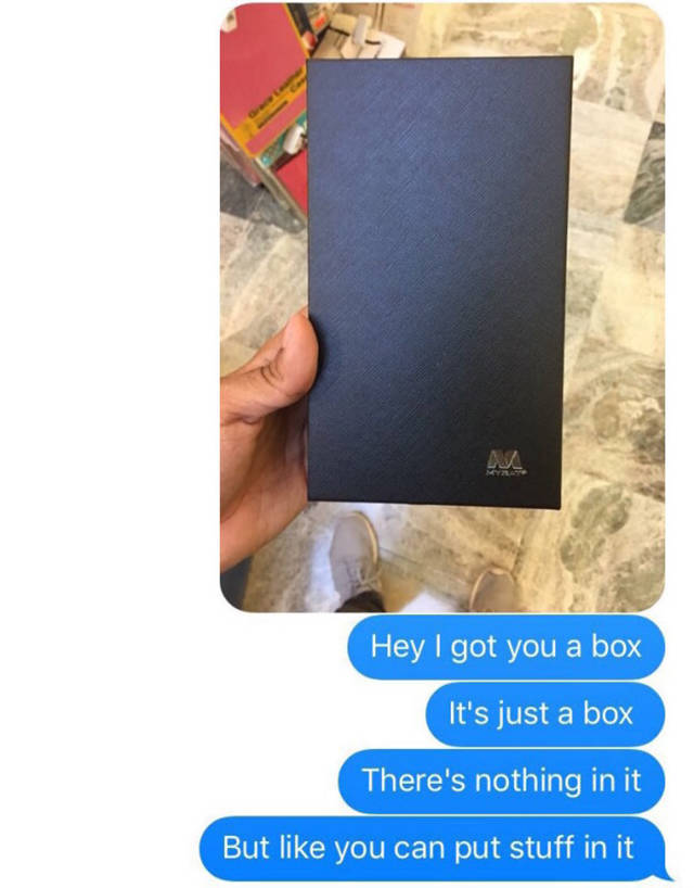 After This Guy Gave His Girl An Empty Box The Internet Reacted (13 pics)