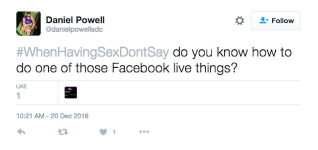 Twitter Users Reveal The Things You Definitely Shouldn't Say During Sex (28 pics)