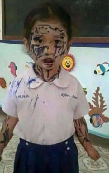 His Teacher Told Him To Draw His Best Friend's Face (2 pics)