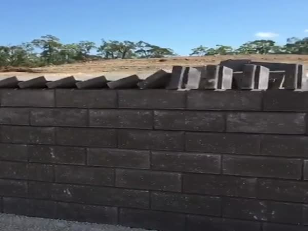 This Workers Brick Laying Method Is Freaking Awesome