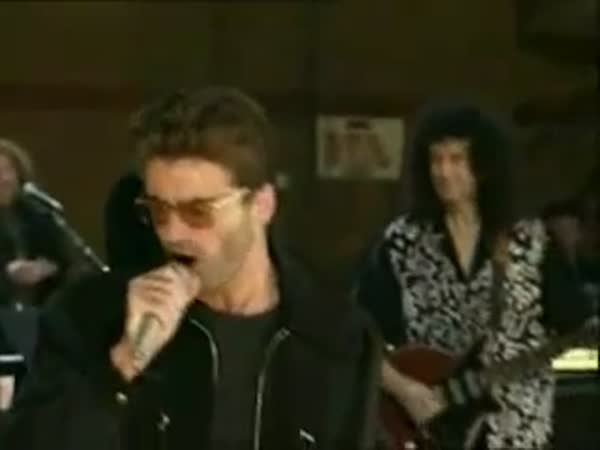 Somebody To Love Rehersal George Michael And Queen