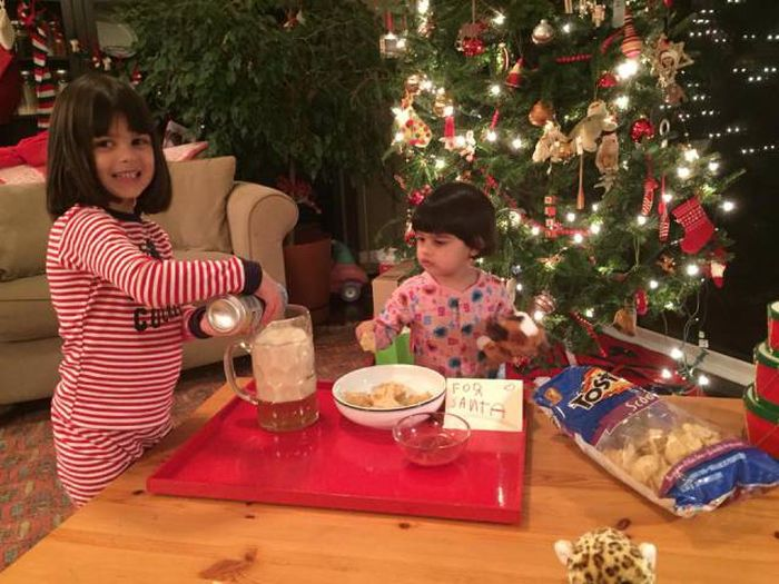 Santa Doesn't Get Milk And Cookies At This House (4 pics)