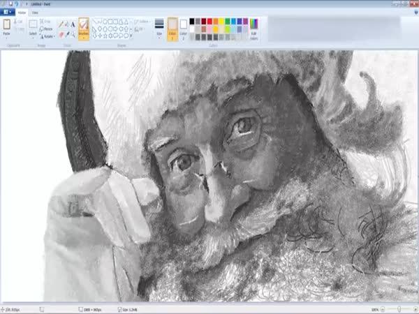 Drawing Santa