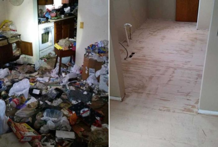 Before And After Images Of A Hoarder's Former House That Will Blow You Away (20 pics)