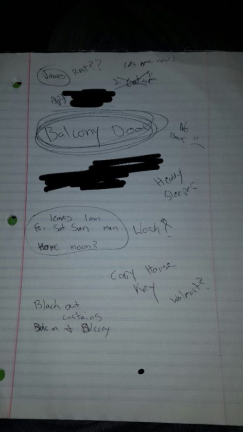 Man Reveals Creepy Notebook He Found In His Home (5 pics)