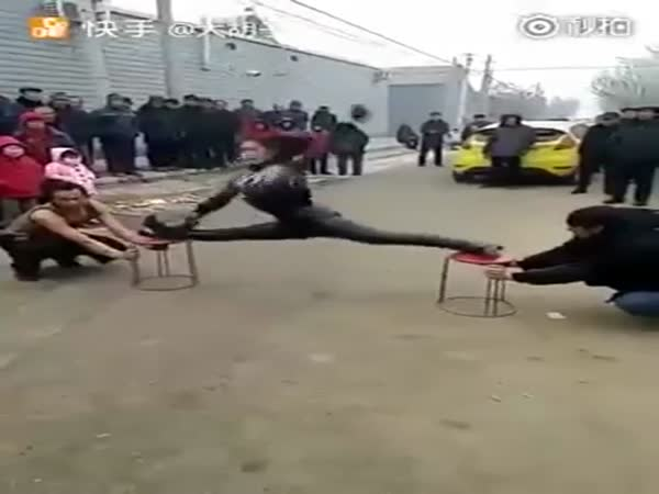 Woman Shows Off Interesting Kung Fu Skills