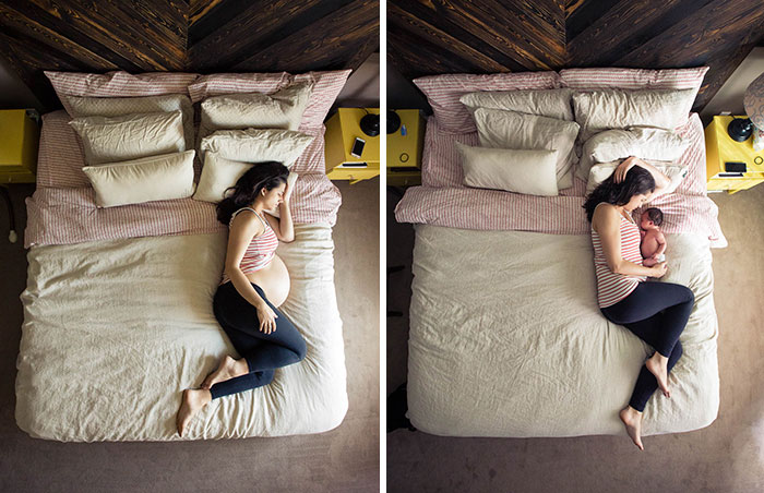 Before And After Pregnancy Photos Will Warm Your Heart (35 pics)