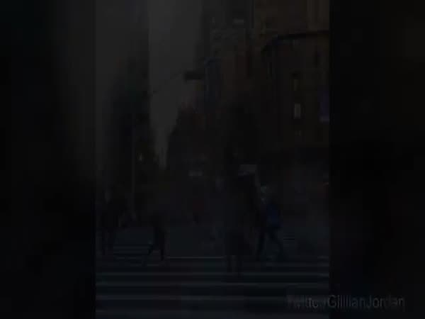 Teenager Falls Over During Street Battle With Michael Jordan Of Dwarf Basketball