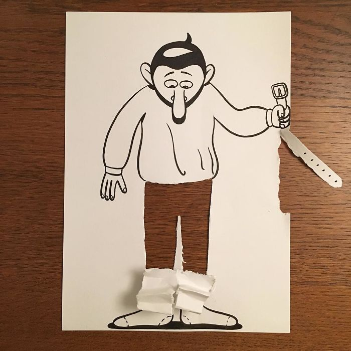 Illustrator Brings His Cartoons To Life With Clever 3D Tricks (30 pics)