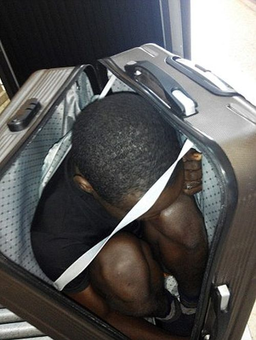 19 Year Old Migrant Smuggled Across The Border In A Suitcase (2 pics)
