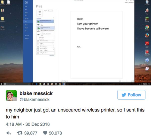 This Is Why You Need To Remember To Set Your WiFi Password (7 pics)