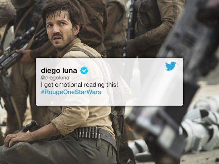 Rogue One Star Diego Luna Shares Fan's Touching Response To The Film (4 pics)