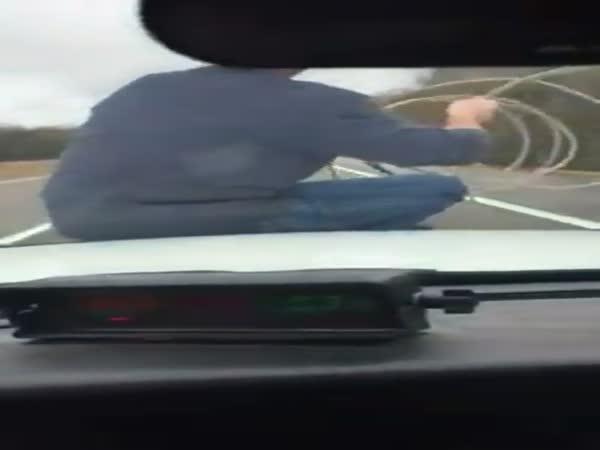 Cowboy Lassos Runaway Calf From The Hood Of A Cop Car
