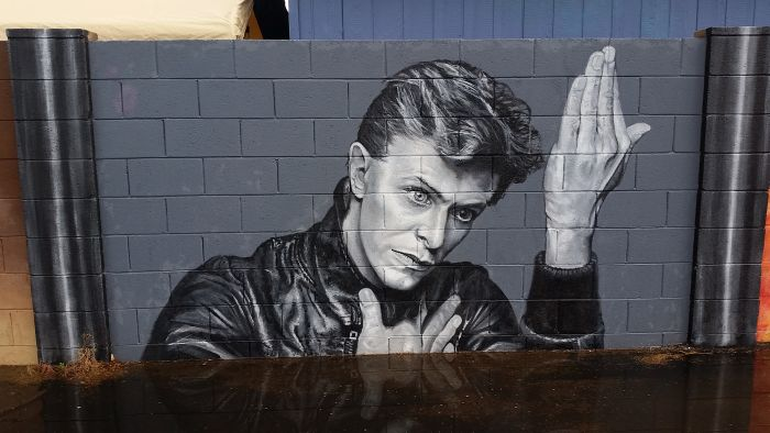 Artists Creates Incredible David Bowie Tribute In Phoenix (10 pics)