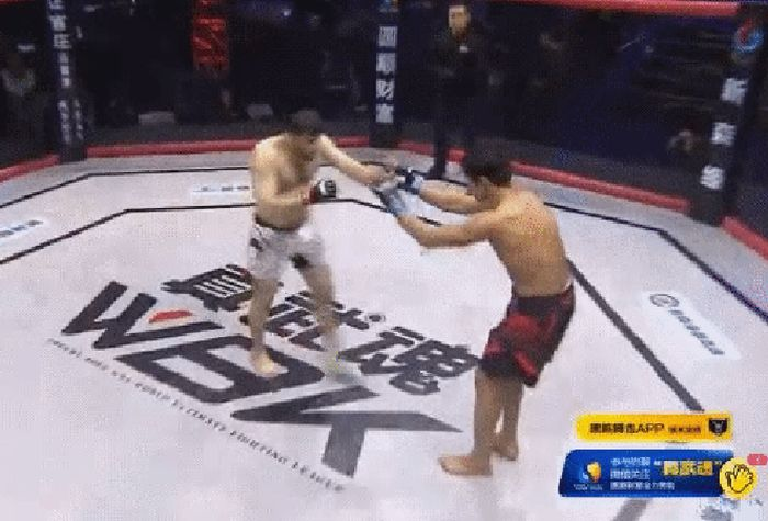MMA Fighter Destroys His Opponent With A Brutal Sucker Punch (2 gifs)