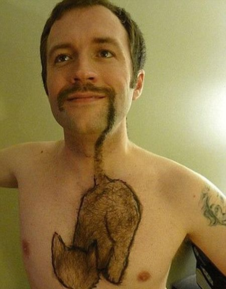 Clever Men Get Creative With Their Body Hair (16 pics)