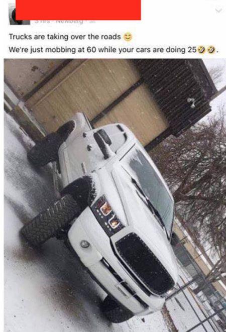 A Reminder That Trucks Aren't Invincible (2 pics)