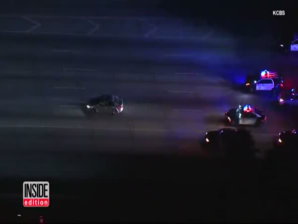 Watch Bizarre Police Pursuit As Cops Chase Suspect Wanted For Attempted Murder
