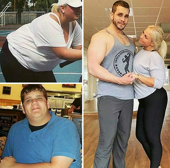 The Couple That Loses Weight Together Stays Together (20 pics)