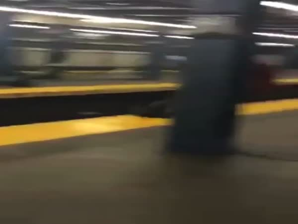 Girl Tries To Jump Subway And Fails Hard