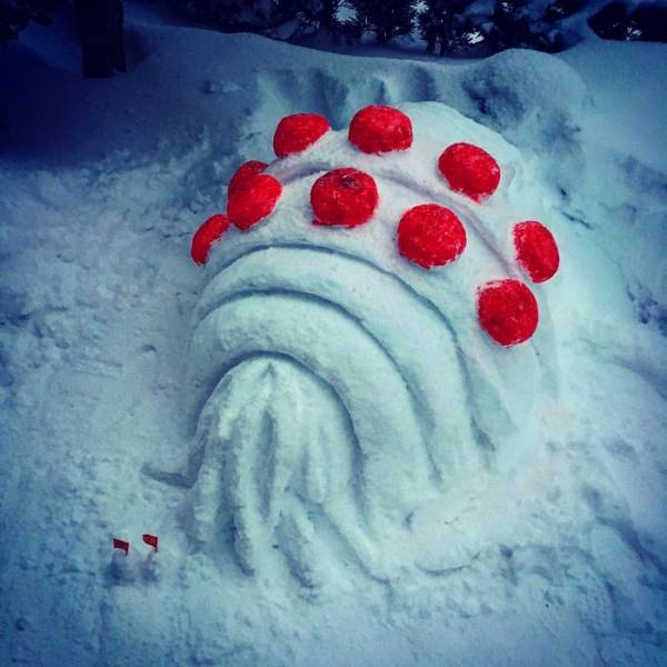 In Japan People Turn Snow Into Art Masterpieces (27 pics)
