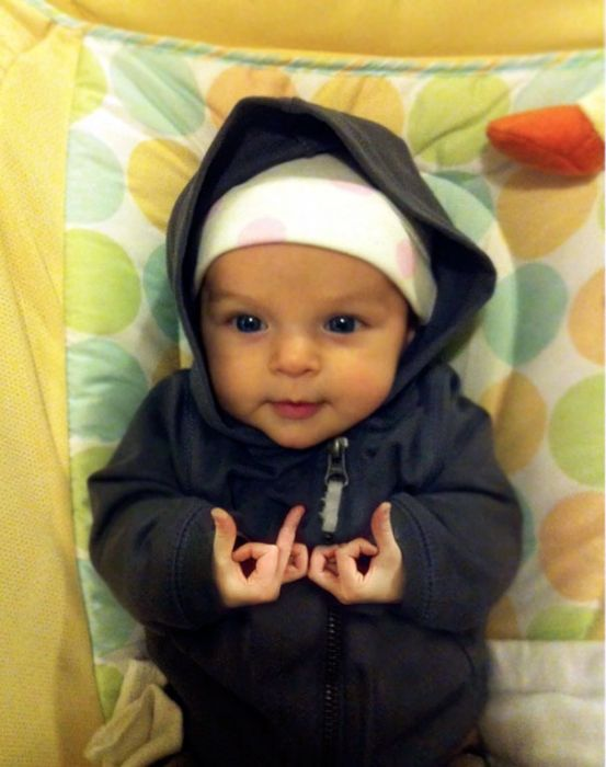 Babies Who Clearly Don't Care About Your Rules (35 pics)