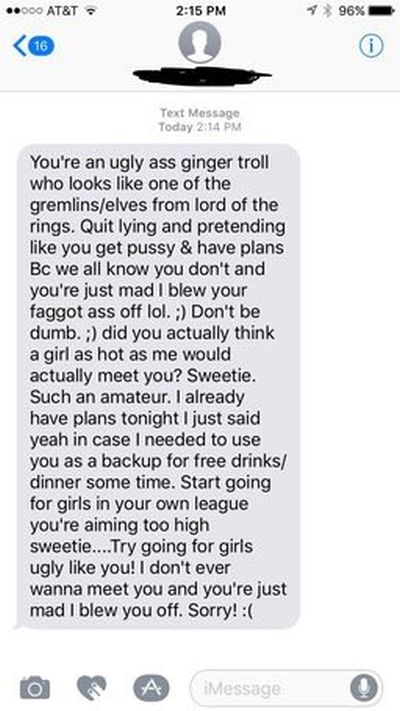 Tinder Chick Loses It After Being Rejected (4 pics)