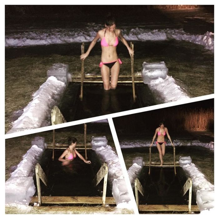 Russian Girls Take A Plunge In Bikinis For Epiphany (39 pics)