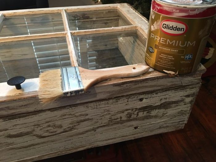 Man Turns Old Window Into A Beautiful Coffee Table (16 pics)