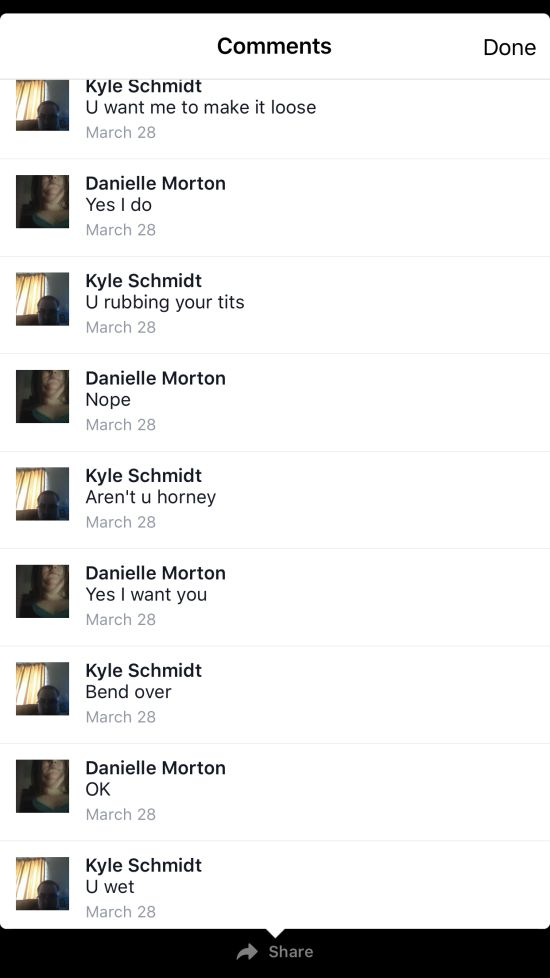 This Facebook Sexting Fail Will Make You Cringe (7 pics)