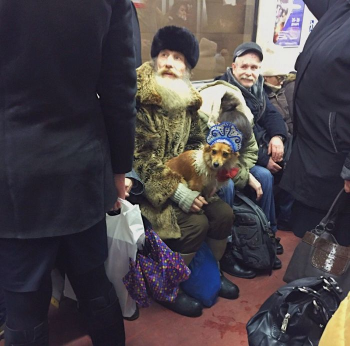 You Can See Some Bizarre Sights While Riding The Subway In Russia (35 pics)