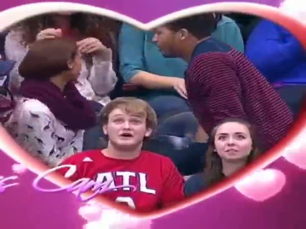Kiss Cam Proposal Goes Terribly Wrong
