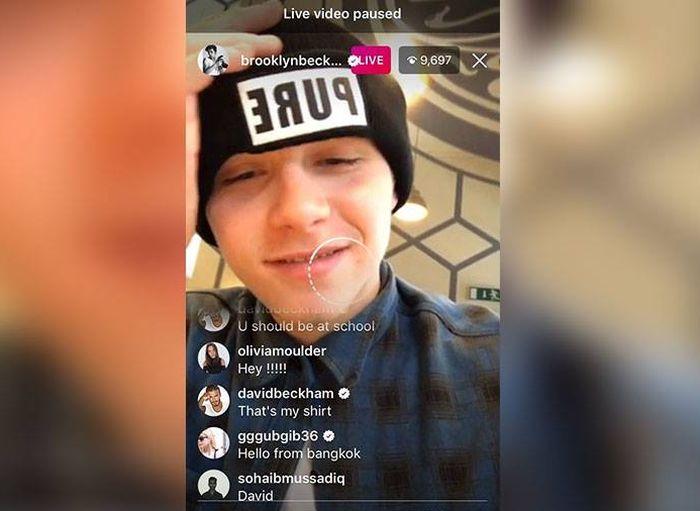 David Beckham Trolls His Son On Instagram (2 pics)
